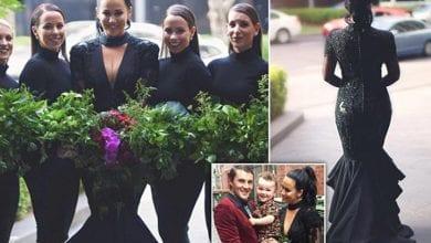 عروس ترتدي الأسود