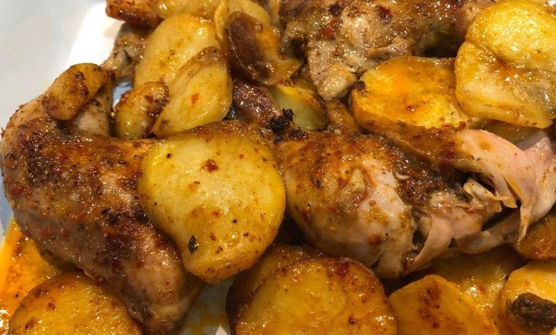 عمل صينية دجاج بالبطاطس
