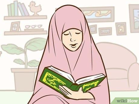 ملكان يحرسان فتاه مسلمة